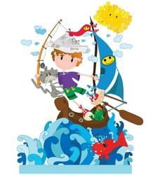 Little sailor vector image