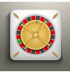 Realistic icon roulette casino vector