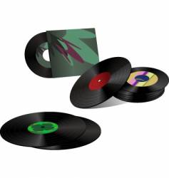 record collection vector image