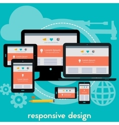 Responsive webdesign concept banner vector