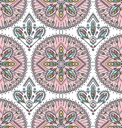 seamless pattern with ethnic arrows feathers and vector image vector image