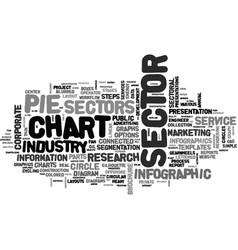 Sector word cloud concept vector
