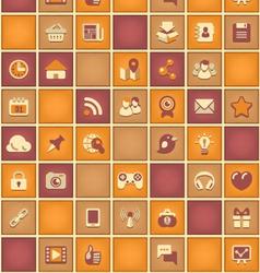 Square Pattern of Social Network in Purple Orange vector image vector image