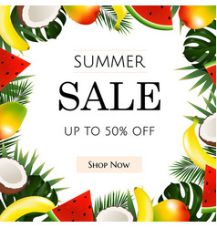 Summer sale poster vector