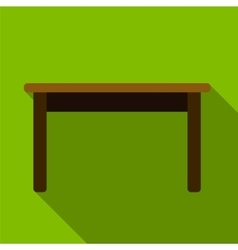 Table flat icon vector image vector image