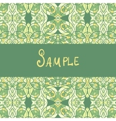 Template for banners or vintage greeting card vector image vector image