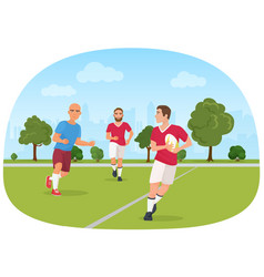 the sporty people playing vector image