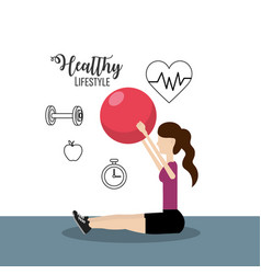 woman healthy lifestyle to do exercise vector image