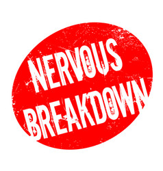 Nervous breakdown rubber stamp vector