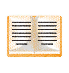 drawing book knowledge library study vector image