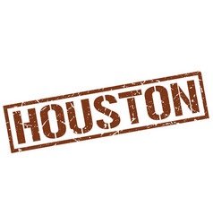 Houston brown square stamp vector
