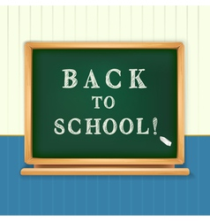 Back to school board vector