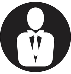 Man manager icon vector
