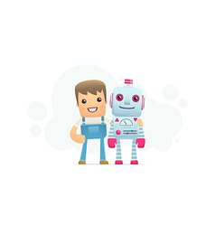 robot repair vector image