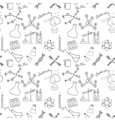 Seamless sketch of science doddle elements vector