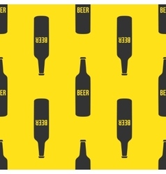 Beer bottles seamless pattern in modern vector