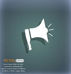 Megaphone soon icon loudspeaker symbol on the vector