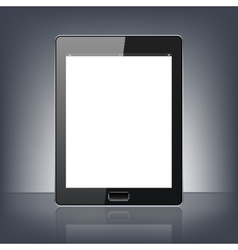 Modern digital tablet pc isolated on the black vector
