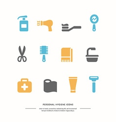 Personal hygiene icons vector