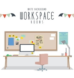 White background workspace vector