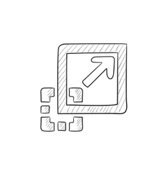 Add content sketch icon vector