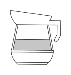 Coffee kettle icon vector