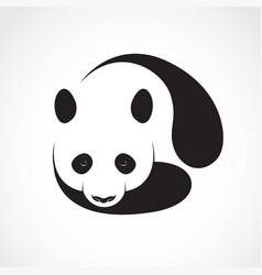 a panda design on a white background wild animals vector image vector image