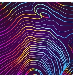 Abstract background with 3D pink and blue lines vector image vector image