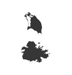 antigua and barbuda map vector image