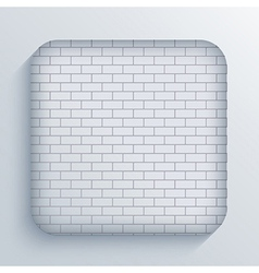 app brick icon on blue background Eps10 vector image vector image