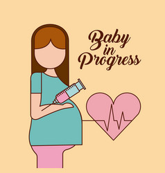 Baby in progress healthy vector