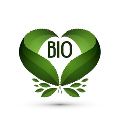 Bio Logo icon sign emblem template vector image
