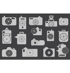 Camera icons or symbol on color background vector