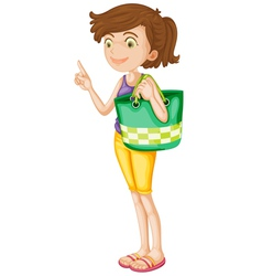 Cartoon Girl vector image vector image