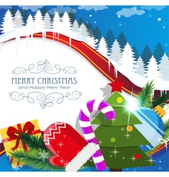 Christmas celebration background vector image