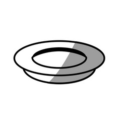 dish cooking picnic shadow vector image
