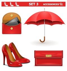 Female Accessories Set 3 vector image