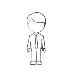 figure man sticker icon vector image