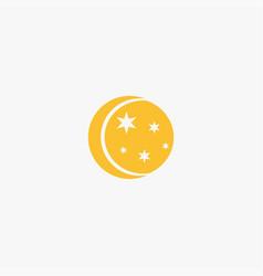 Flat moon icon vector