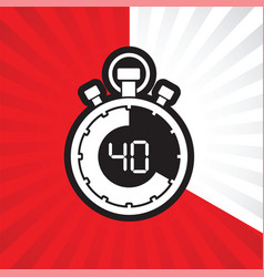 Forty minute stop watch countdown vector