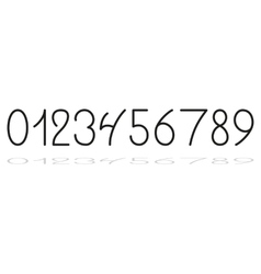 Hand drawing numbers vector image vector image