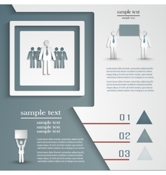 Infographic template for business project or vector image vector image