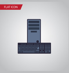 Isolated keyboard flat icon processor vector