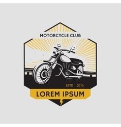 Motorcycle club label Motorcycle symbol vector image
