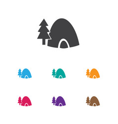of journey symbol on tent icon vector image vector image