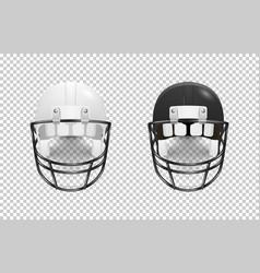 realistic classic american football helmet set - vector image