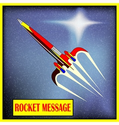 Retro space rocket vector