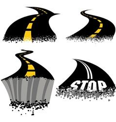 Road Rash vector image vector image