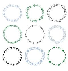 Set of decorative circle frames vector image vector image
