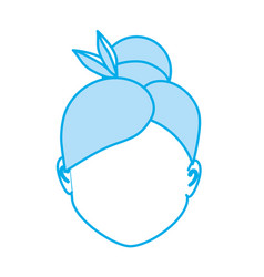 Silhouette default avatar woman to social user vector